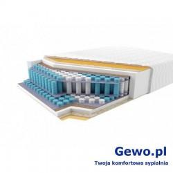 Materac JMB Pocket Duo H2/H3 LX 200x200 cm Kieszeniowy Piankowy Rehabilitacyjny 2 lata gwarancji + Mega Gratisy