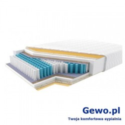 Materac JMB Multi 1000 PLX H2 200x180 cm Piankowy Lateksowy Ortopedyczny 2 lata gwarancji + Mega Gratisy
