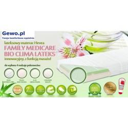 Materac Hevea Family Medicare Bio Climalateks Lateksowy Antyalergiczny Rehabilitacyjny + Mega Gratisy