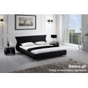 Łóżko do Sypialni Tapicerowane ze skóry eco giacomo