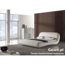 Piękne łóżko do sypialni tapicerowane cassiano