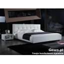 Łóżko Sypialniane Tapicerowane  ze skóry eco sahra