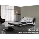 Łóżko Sypialniane Tapicerowane  z eko skóry swing