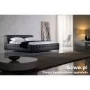 Łóżko Sypialniane Tapicerowane  z eko skóry theatro plus