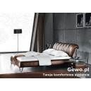 Łóżko Sypialniane Tapicerowane  z eko skóry ventura