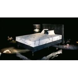 Łóżko do sypialni tapicerowane 180x200 kwadra kontynentalne - super komfortowe - JMB