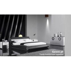 Łóżko do Sypialni Tapicerowane ze skóry eco getano