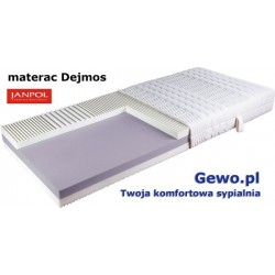 Materac Dejmos Janpol 90x200 cm - piankowy termoelastyczny Rehabilitacyjny + Mega Gratisy