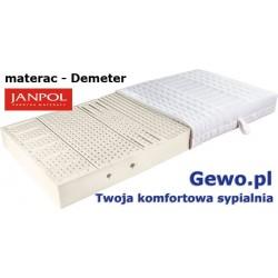 Materac Demeter - Janpol - do spania lateksowy Rehabilitacyjny 7 stref twardości