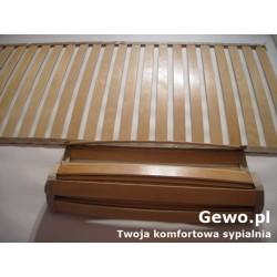 Stelaż do łóżka z drewna gewo rolowany