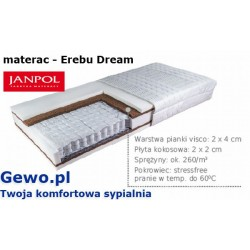Materac Erebu Dream 180x200 cm Janpol kieszeniowy dwustronny + Mega Gratisy
