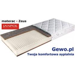 Materac Zeus Janpol 90x200 cm Lateksowy Rehabilitacyjny + Mega Gratisy