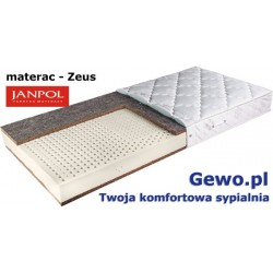 Materac Zeus Janpol 200x200 cm Lateksowy Rehabilitacyjny + Mega Gratisy