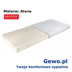 Materac Atena 180x200 cm Janpol lateksowy rehabilitacyjny + Mega Gratisy