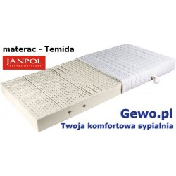 Materac Temida 200x200 cm Janpol lateksowy Rehabilitacyjny + Mega Gratis