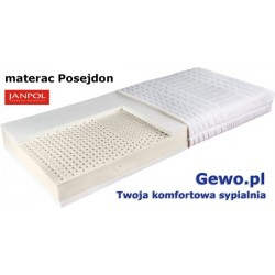 Materac Posejdon 180x200 cm Janpol lateksowy termoelastyczny + Mega Gratisy