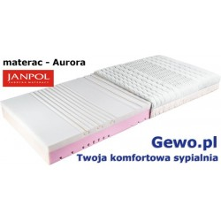 Materac Janpol Aurora piankowy termoelastyczny + Mega Gratisy