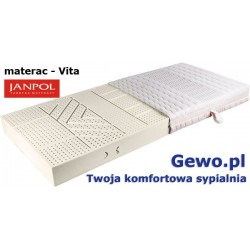 Materac Janpol Vita 120x200 cm lateksowy + Mega Gratisy