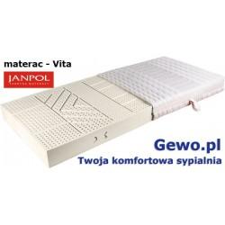 Materac Janpol Vita 200x200 cm lateksowy + Mega Gratisy