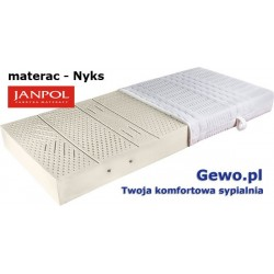 Materac Nyks Janpol 180x200 cm lateksowy + Mega Gratisy