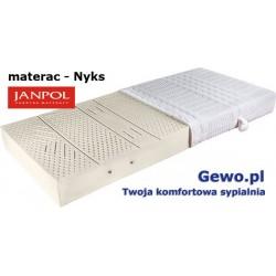 Materac Nyks Janpol 200x200 cm lateksowy + Mega Gratisy