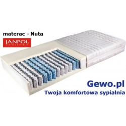 Materac Janpol Nuta 200x200 cm kieszeniowo-lateksowy + Mega Gratisy