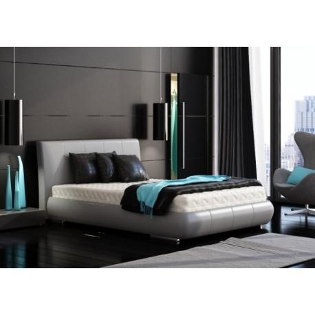 łóżko Do Sypialni 160x200 Tapicerowane Trio Oval System Jmb