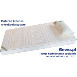 Materac do spania dla dziecka Treenes 70x140 cm - piankowy wysokoelastyczny + Mega Gratisy