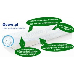 Materac 90x200 cm Lateksowy Antyalergiczny Rehabilitacyjny Hevea Family Medicare+ plus + Mega Gratisy