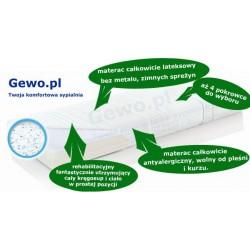 Materac 180x200 cm Lateksowy Antyalergiczny Rehabilitacyjny Hevea Family Medicare+ plus + Mega Gratisy