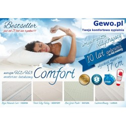 Materac Hevea Comfort H3 120x200 cm Lateksowy Antyalergiczny Rehabilitacyjny + Mega Gratisy