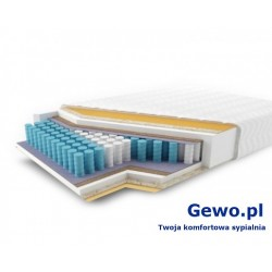 Materac JMB Multi 500 PLX H2 200x180 cm Kieszeniowy Piankowy Lateksowy 2 lata gwarancji + Mega Gratisy