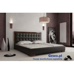 Łóżko tapicerowane do sypialni Gewo 118 90x200 cm z pojemnikiem na pościel