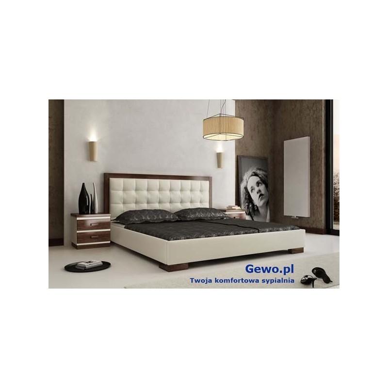 łóżko Tapicerowane Do Sypialni Gewo 118 140x200 Cm Z Pojemnikiem Na Pościel