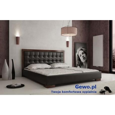 Masywnie Łóżko tapicerowane do sypialni Gewo 118 180x200 cm z pojemnikiem HP24