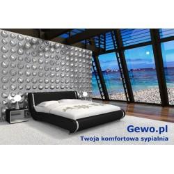 Łóżko tapicerowane do sypialni Gewo 162 90x200 cm