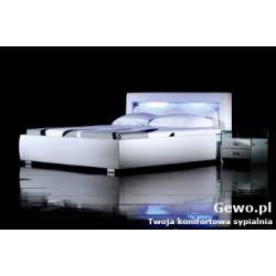 Łóżko tapicerowane do sypialni Gewo 144 200x200 cm