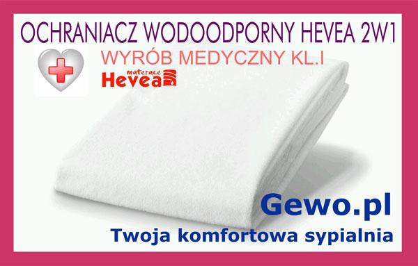 ochraniacz wodoodporny 2w1 dla materaca do spania lateksowego antyalergicznego Hevea Comfort Prestige