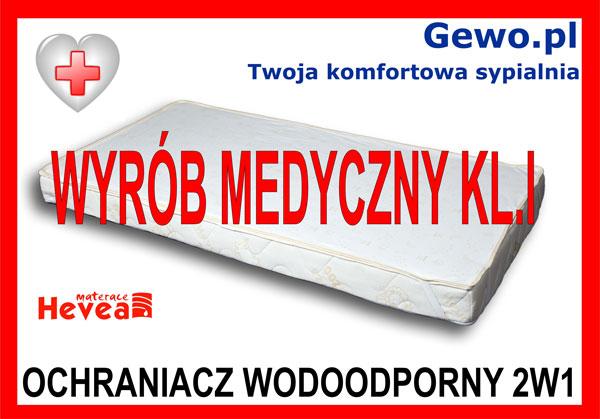 ochraniacz wodoodporny 2w1 dla materaca Hevea Fitness Lateks wysokoelastyczny