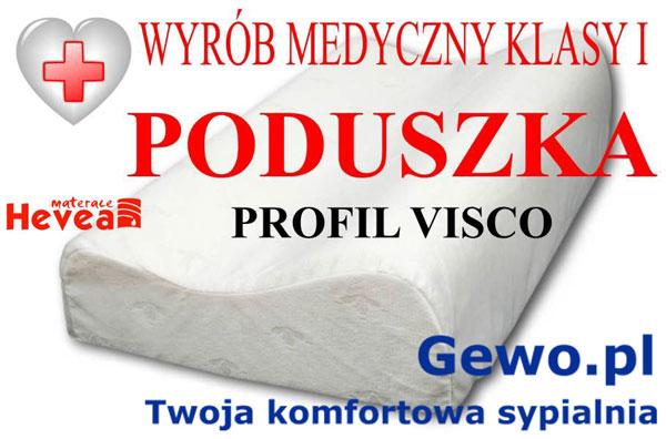 gratis poduszka profilowana PROFIL VISCO do materaca Hevea Fitness Lateks lateksowego antyalergicznego wysokoelastycznego