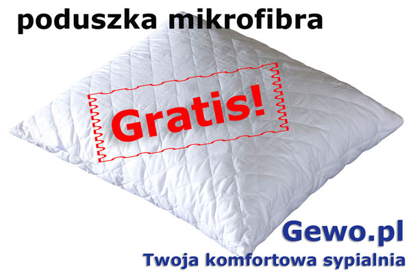 gratis poduszka mikrofibra do materaca janpol aurora