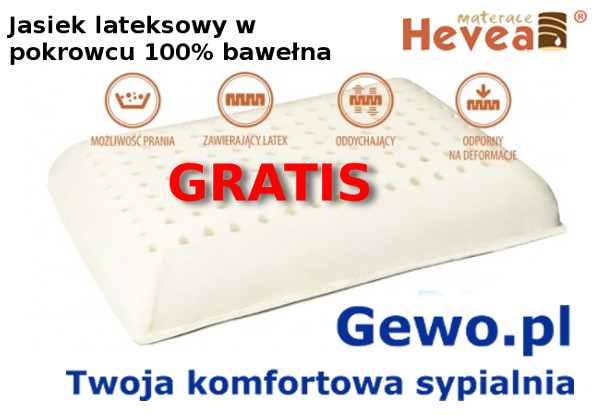 gratis jasiek lateksowy do materaca Hevea Comfort Royal
