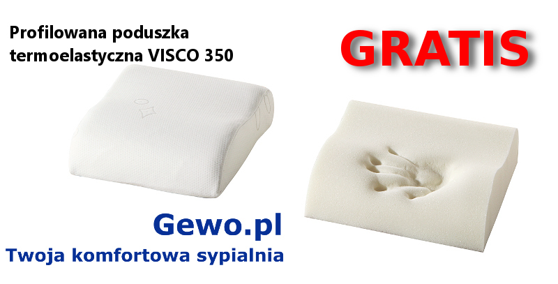 gratis poduszka termoplastyczna VISCO 350 gratis do materaca merita innergetic 100x200