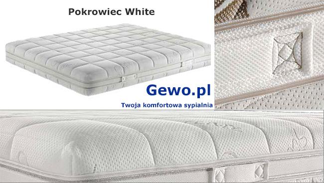 Materac Cortina Top ATM wysokoelastyczny - pokrowiec White